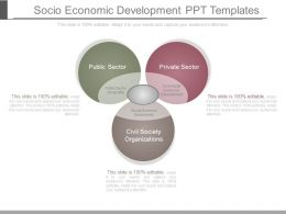 Socio Economic Development Ppt Templates