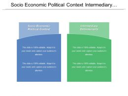 Socio Economic Political Context Intermediary Determinants Biological Processes