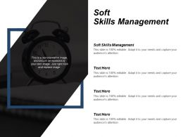Soft Skills Management Ppt Powerpoint Presentation Infographic Template Demonstration Cpb