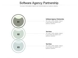 Software Agency Partnership Ppt Powerpoint Presentation Inspiration Infographic Template Cpb