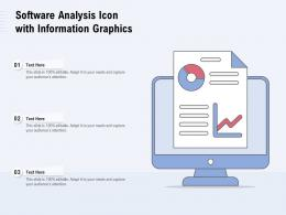 Software Analysis Icon With Information Graphics