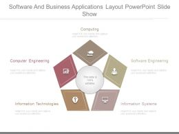 Software And Business Applications Layout Powerpoint Slide Show