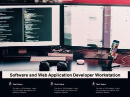 Software And Web Application Developer Workstation