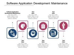 Software Application Development Maintenance Ppt Powerpoint Presentation Slides Cpb