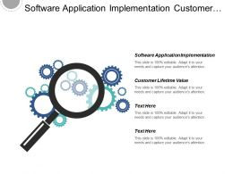 Software Application Implementation Customer Lifetime Value Project Management Cpb