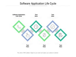 Software Application Life Cycle Ppt Powerpoint Summary Slides Cpb