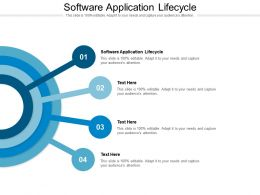 Software Application Lifecycle Ppt Presentation Gallery Example File Cpb