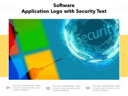 Software Application Logo With Security Text