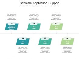 Software Application Support Ppt Powerpoint Presentation Professional Images Cpb