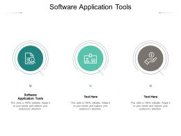 Software Application Tools Ppt Powerpoint Presentation Good Cpb