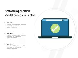 Software Application Validation Icon In Laptop