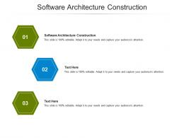 Software Architecture Construction Ppt Powerpoint Presentation Professional Graphic Images Cpb