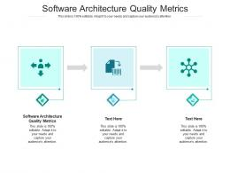 Software Architecture Quality Metrics Ppt Powerpoint Presentation Gallery Microsoft Cpb