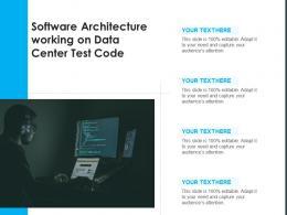 Software Architecture Working On Data Center Test Code