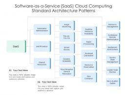 Software As A Service SaaS Cloud Computing Standard Architecture Patterns Ppt Diagram