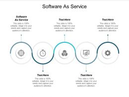 Software As Service Ppt Powerpoint Presentation Gallery Brochure Cpb
