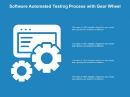 Software Automated Testing Process With Gear Wheel