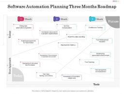 Software Automation Planning Three Months Roadmap