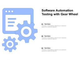 Software Automation Testing With Gear Wheel