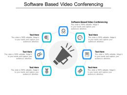 Software Based Video Conferencing Ppt Powerpoint Presentation Gallery Skills Cpb