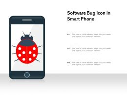 Software Bug Icon In Smart Phone