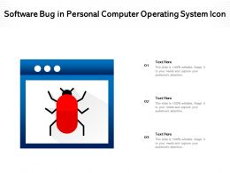 Software Bug In Personal Computer Operating System Icon