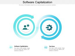 Software Capitalization Ppt Powerpoint Presentation Professional Graphic Images Cpb