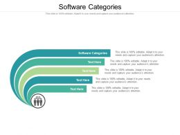 Software Categories Ppt Powerpoint Presentation Icon Infographics Cpb