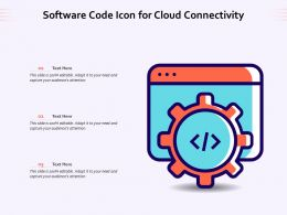 Software Code Icon For Cloud Connectivity
