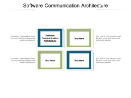 Software Communication Architecture Ppt Powerpoint Presentation Pictures Clipart Cpb