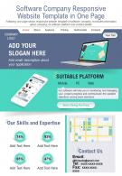 Software Company Responsive Website Template In One Page Report PPT PDF Document
