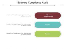 Software Compliance Audit Ppt Powerpoint Presentation Portfolio Slides Cpb