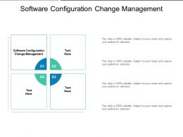 Software Configuration Change Management Ppt Powerpoint Presentation Infographics Vector Cpb