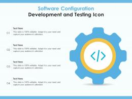 Software Configuration Development And Testing Icon