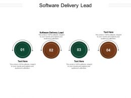 Software Delivery Lead Ppt Powerpoint Presentation Model Design Templates Cpb