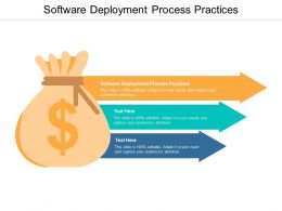 Software Deployment Process Practices Ppt Powerpoint Presentation Infographic Cpb