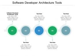 Software Developer Architecture Tools Ppt Powerpoint Presentation Layouts Format Ideas Cpb