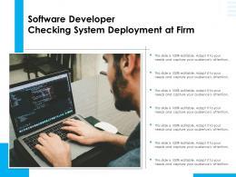Software Developer Checking System Deployment At Firm