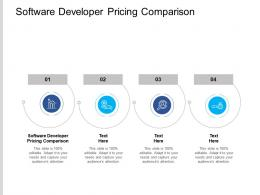 Software Developer Pricing Comparison Ppt Powerpoint Presentation File Professional Cpb
