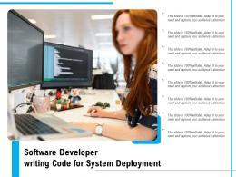 Software Developer Writing Code For System Deployment