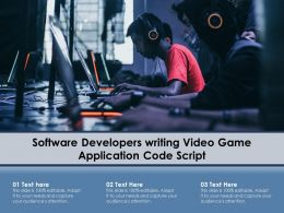 Software Developers Writing Video Game Application Code Script