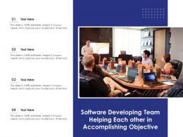 Software Developing Team Helping Each Other In Accomplishing Objective