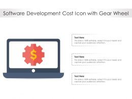 Software Development Cost Icon With Gear Wheel