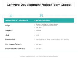 Software Development Project Team Scope