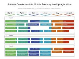Software Development Six Months Roadmap To Adopt Agile Value
