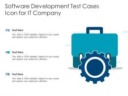 Software Development Test Cases Icon For IT Company