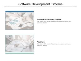 Software Development Timeline Ppt Powerpoint Presentation Inspiration Show Cpb