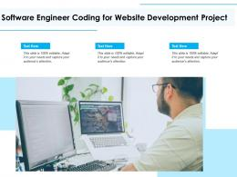 Software Engineer Coding For Website Development Project