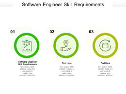 Software Engineer Skill Requirements Ppt Powerpoint Presentation Information Cpb