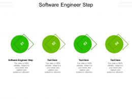 Software Engineer Step Ppt Powerpoint Presentation Design Templates Cpb